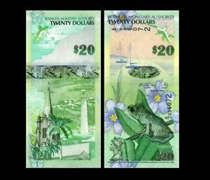 BERMUDA 20 DOLLARS 2009 YEAR P 60 UNC