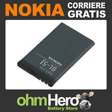 Batteria Cellulare Nokia Lumia 520 ioni di Litio Bl-5j 1430mah 3.7v 5.3wh