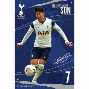 "Heung Min Son Tottenham Hotspur Wall Poster 24"" x 36"" Officially Licensed"