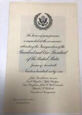 1961 Inauguration Ceremonies Of  Kennedy Johnson Historical Memorabilia