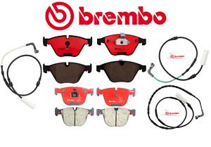 Front Brake Pads & Rear Brake Pads Set Ceramic OEM Brembo + Sensor BMW M3 08-13