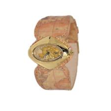 Orologio ALVIERO MARTINI 1°CLASSE ref PCH 848/1VR Donna dorato pelle mappa GEO