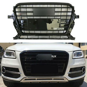 Front Upper Grille For Audi Q5 SQ5 Style 2013 2014 2015 2016 Grill All Black