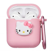 Logee Kitty Hello Cat Case for Airpods 1& 2 Charging Case,Cute Silicone 3D Kits
