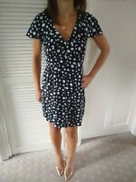 Ditsy Black And White Spotty Tea Dress Size 8 Dorothy Perkins