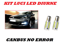 LUCI DIURNE LED T20 VW POLO 6R 6C CANBUS 6000K NO ERROR