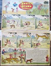 BUSTER BROWN & Tige In India Comic 1909 New York Herald R F Outcault