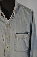 Vintage Lee blue western shirt size XL trucker cowboy