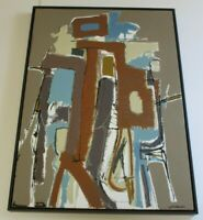LARGE KENNETH JOAQUIN PAINTING CALIFORNIA MODERNIST ABSTRACT EXPRESSIONISM 4 FT