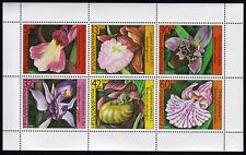 Bulgarien 3441-46 **, Kleinbogen, Blumen-Orchideen
