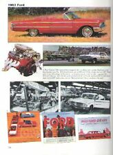 1963 Ford + Galaxie + Cobra + Pickup Truck + Tbird Article - Must See !!