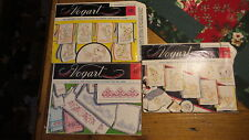 3 Vintage VOGART TRANSFER PATTERN X-Stitch 653,Cuddly Bears 232,Happy Fruits 232