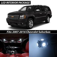 2007-2016 Chevrolet Suburban White Interior LED Lights Package Kit