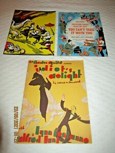 ORIGINAL BROADWAY SOUVENIR PROGRAMS-THE SKIN OF OUR TEETH-YOU CAN'T TAKE IT WITH
