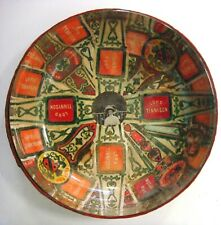 Glass Dish made with Lord Tennyson Cigar Labels and a photo
