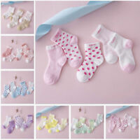 5Pairs Baby Girl Boy Cartoon Cotton Socks New Born Infant Toddler Kid Soft Socks