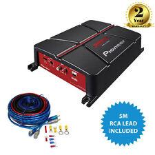 Pioneer GM-A3702 2 canales puenteables coche amplificador + amplificador Kit de cableado & Rca
