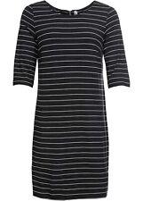 Jerseykleid mit Reißverschluss Gr. 40 Schwarz Damen-Kleid Shirtkleid Neu*