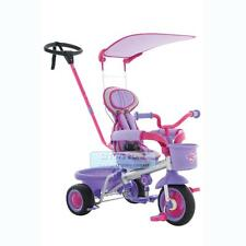 New 2014 Eurotrike Ultima Canopy & Padded Seat Pink Purple Girls Toddler Bike