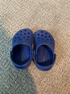 Blue Toddler Classic Crocs Size 2/3