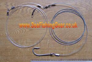 1 x Big Shark Trace, 250lb Wire,11/0 hook,4/0 Swivels
