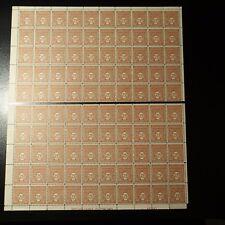 FEUILLE SHEET ARC DE TRIOMPHE N°622 x100 EN 2 PARTIES 1944 NEUF ** LUXE MNH