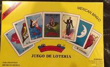 Juego de Loteria / Mexican Bingo 10 Tablets+1 Deck. BOXED Auth Don Clemente Inc.