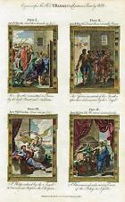 "Bankes' Christian Bible ""THE APOSTLES SENT TO PRISON "" etc - H-Col. Eng. -c1760"