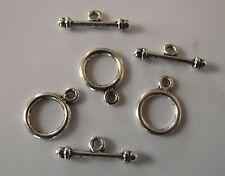 Lot 3 FERMOIRS Argent Tibétain  Bracelet & Colliers métal argenté bijou kit