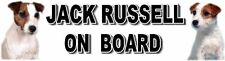 JACK RUSSELL ON BOARD Car Sticker By Starprint