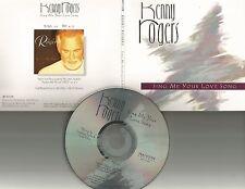 KENNY ROGERS Sing me your love Song PROMO DJ CD single 1997 w/ PRINTED LYRICS