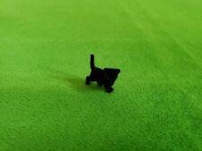 Vintage Miniature Tiny Flocked Black Kitten Dollhouse Diorama Craft Nos