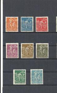 Deutsches Reich, 1922 Michelnummern: 238 - 245 **, postfrisch, Katalogwert € 5