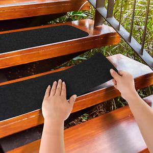 Pre-Cut Stair Treads 80 Grit Non-Slip Outdoor Tape Black Heavy Duty Anti Slip