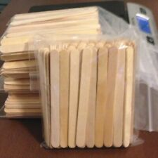 100 pieces Natural Wood Craft Sticks / Popsicle Sticks 4 1/2