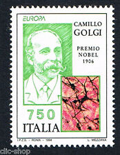 ITALIA 1 FRANCOBOLLO EUROPA CEPT CAMILLO GOLGI NOBEL DI MEDICINA 1994 nuovo**