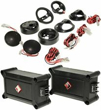 "Pair Of Rockford Fosgate P1T-S 1"" 240 Watt Car Audio Tweeters Kit W/ Crossovers"