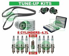 TUNE UP KITS 01-06 for TOYOTA SEQUOIA: SPARK PLUGS, BELT; AIR, FUEL & OIL FILTER