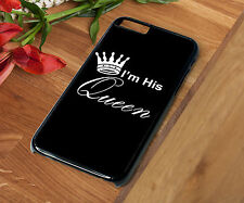 Phone Case I'm His Queen Crown Rubber - Hard - Protective Back Cover For Iphone