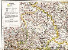 Sachsen Anhalt Harz 1924 orig. Atlas-Karte Salzwedel Aken Halle Zerbst Bernburg