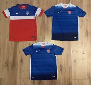 Nike 2014-2015 Team USA Olympic Soccer LOT OF 3 Jerseys Youth Medium/Large