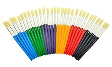 SUPER VALUE STORAGE TUB OF CHUNKY HANDLE PAINT BRUSHES: 30 PER PACK