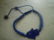 Bracelet shamballa main bleue