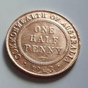1923 key australia half penny forgery!!!..#025