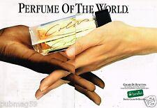 Publicité Advertising 1988 (2 pages) Eau de Parfum United Colors of Benetton