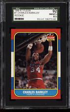 1986-87 Fleer #7 Charles Barkley RC SGC 8.5 NM-MINT+ Philadelphia 76ers