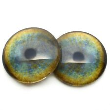 Olhos De Vidro Tamanho 9 Mm Pelúcia Urso Taxidermia idade 1910 Art A17 Um Par Vintage sólida
