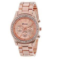 Fashion Womens Crystal Stainless Steel Wrist Watch Classy Ladies DRESS Watch