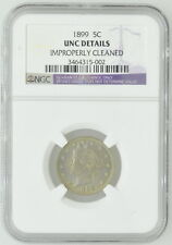 1899 US 5C Five Cent Liberty Nickel NGC UNC Details Certified Coin Currency