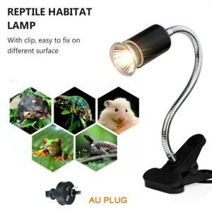 Pet Turtle Reptile Ceramic Heat Brooder Lamp Light Holder Clamp E27 AU Plug